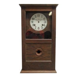 Antique Tiger Oak Clock