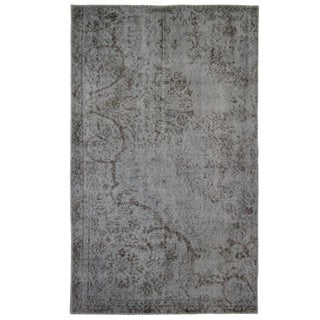 Slate Overdyed Carpet   3'1 x 5' Rug