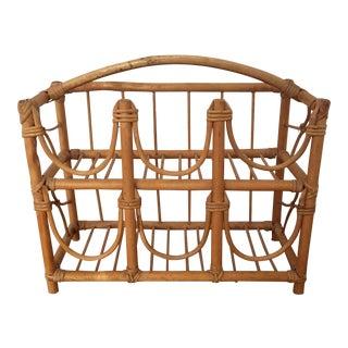 Bamboo & Rattan Wine Rack