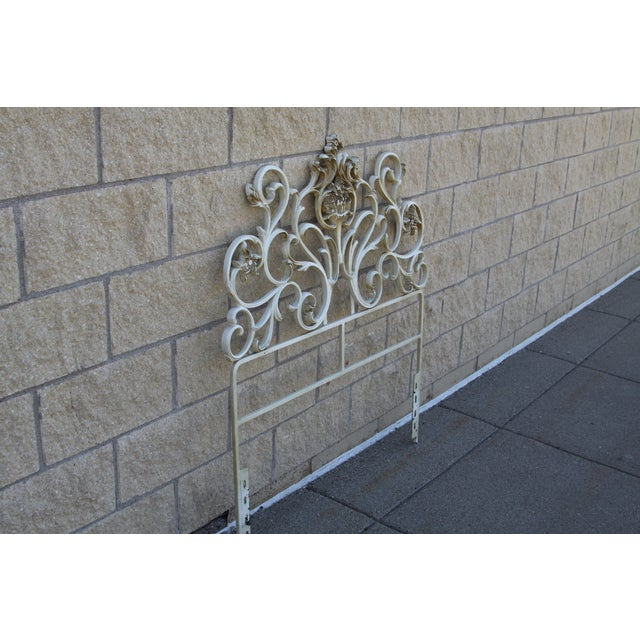 Image of Metal Scroll Twin Headboard