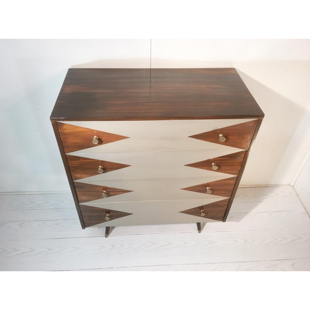 Paul McCobb Mid-Century Modern Geometric Chest - Image 7 of 8