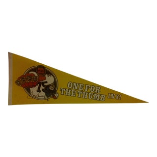 Vintage 1981 Pittsburgh Steelers Pennant Flag