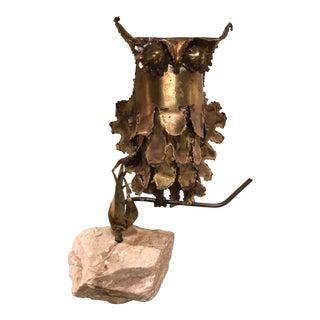 Mid-Century Brutalist Owl