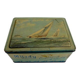 Vintage Milady Confections Toffee Tin