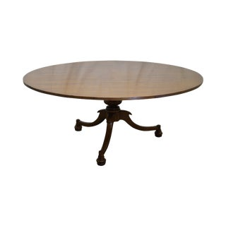 Jonathan Charles Round Walnut Dining Table