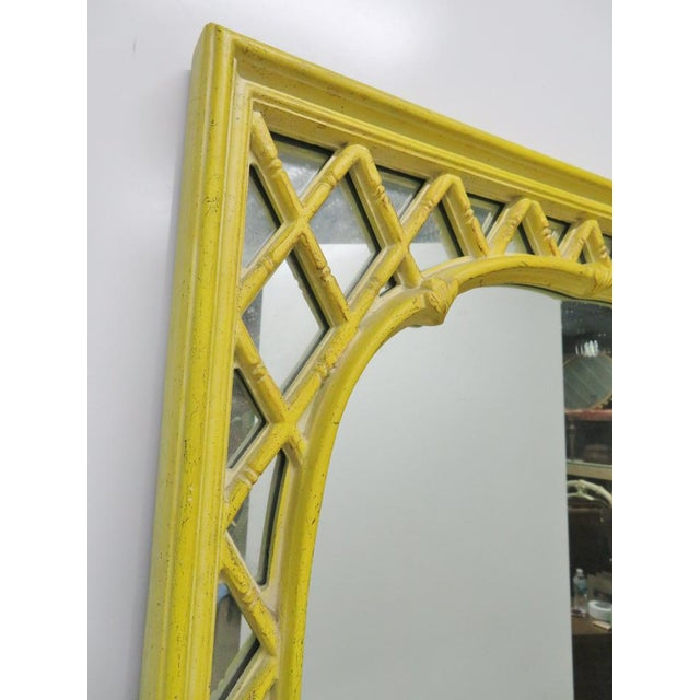 Chinoiserie Yellow Console Table & Mirror - Image 6 of 8