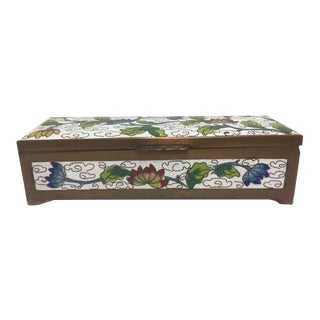 Antique Cloisonne Stamp Box