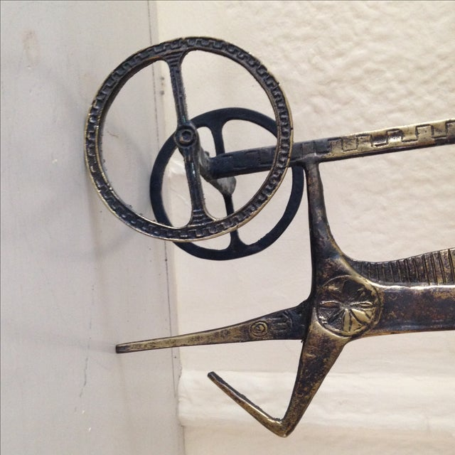 Etruscan Horse & Chariot Sculpture - Image 8 of 10
