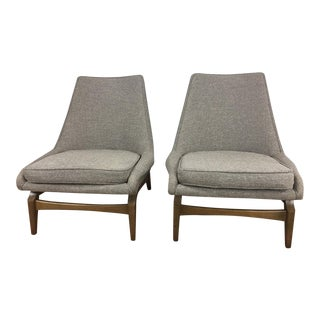 Modern Gray Side Chairs - A Pair