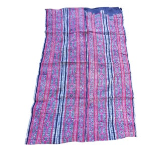 Batik Embroidered Linen Throw
