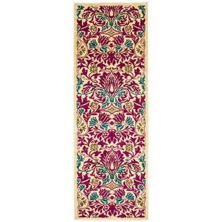 "Arts & Crafts Hand Knotted Runner - 2'6"" X 8'6"""