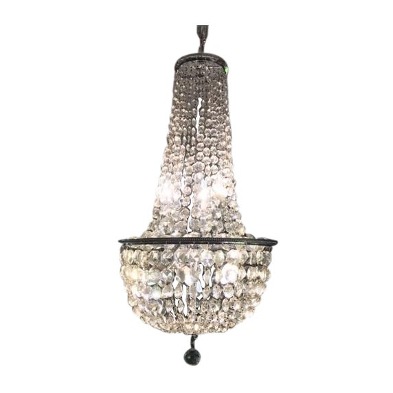 1900s Empire Crystal Chandelier - Image 1 of 11