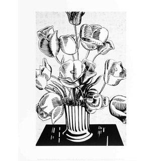 Roy Lichtenstein Black Flowers Poster