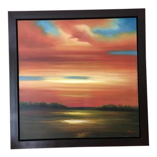 Contemporary Sunset Clouds Oil Painting
