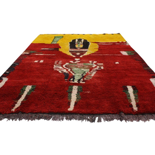 Moroccan Contemporary Abstract Design Berber Rug - 8′8″ × 11′2″ - Image 3 of 6