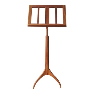 Minimalist Easel Shaker Cherry Wood Music Stand Mid Century Modern Art Display