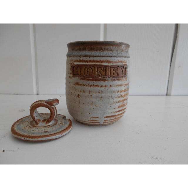 Rustic Pottery Honey Pot - Image 4 of 8