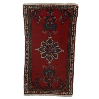 RugsinDallas Hand-Knotted Wool Persian Hamedan - 1′10″ × 3′3″