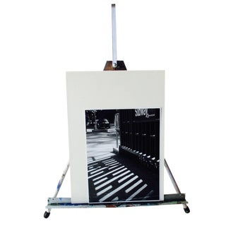 Folding Easel & Original NYC Subway Photograph