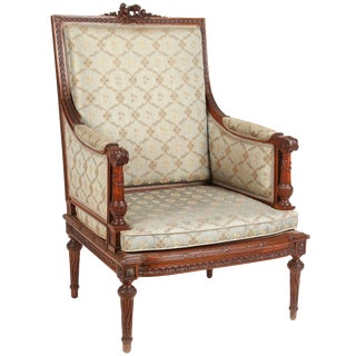1860 French Carved Walnut Armchair
