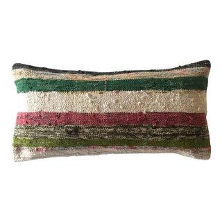 Moroccan Kilim Dark Green Boho Pillow Cover