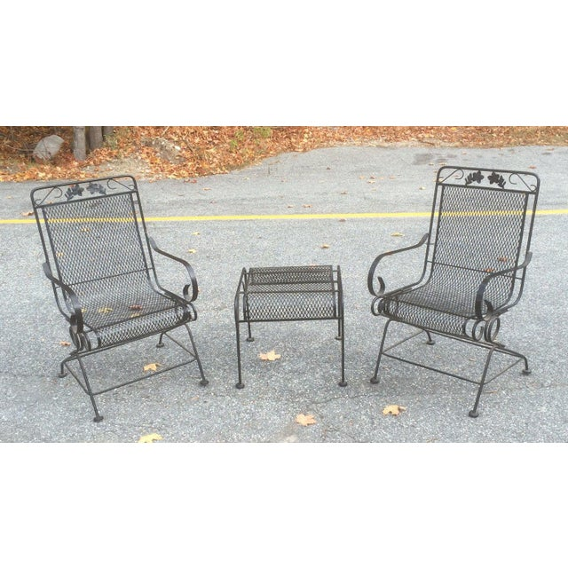 Woodard Springer Patio Chairs & Ottoman - Image 2 of 6