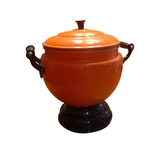 Vintage Bright Orange Soup Tureen & Ladle