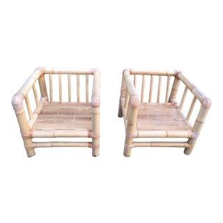 Mangku Indonesian Bamboo Armchairs- A Pair