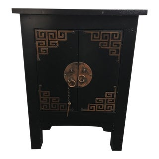 Contemporary Chinoiserie Style Painted Wood Side Table