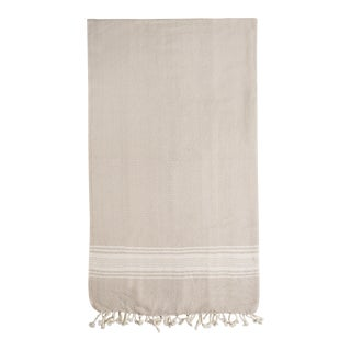 Beige Organic Cotton Turkish Towel