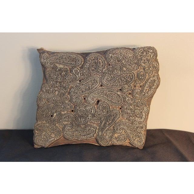Image of Antique Italian Paisley Fabric Mold