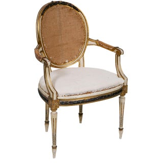 Painted and Gilt French Chair