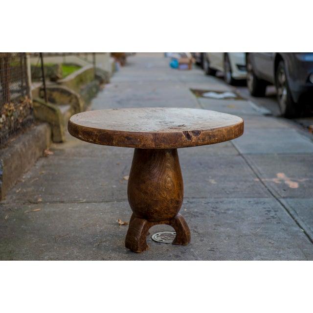 Teak Wood Slab Coffee Table: Vintage Teak Slab Coffee Or End Table