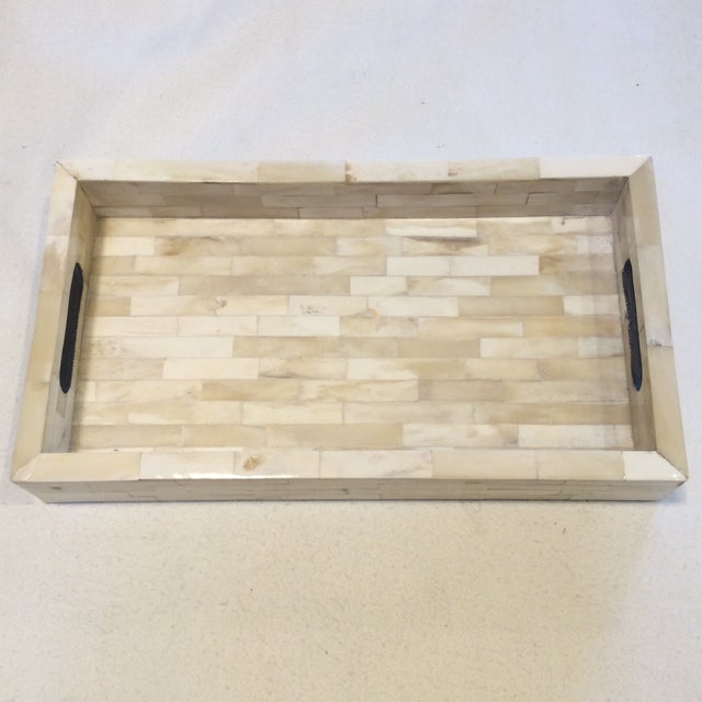 Natural Ivory Bone Serving Tray - Image 2 of 9