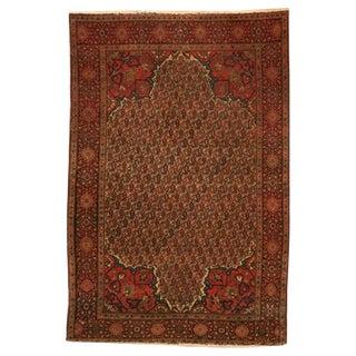 Breathtaking 6x4' Antique Persian Tabriz Boteh Rug