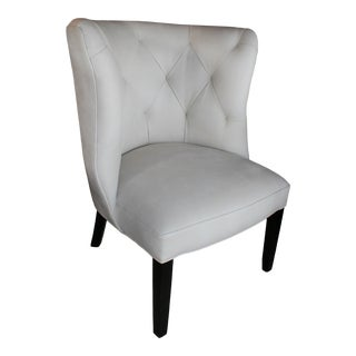 Marvell Ivory Leather Goodman Chair