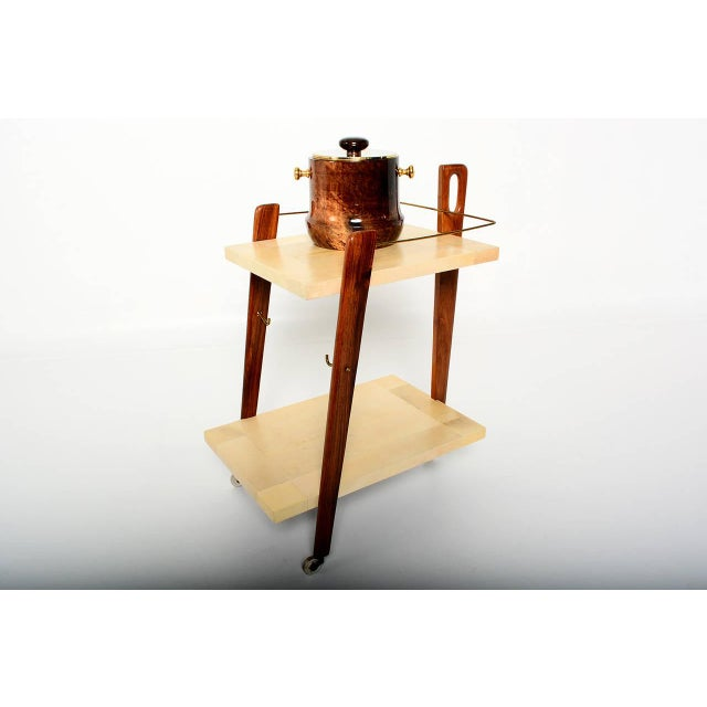 Mexican Modernist Goat Skin Service Cart - Image 8 of 10