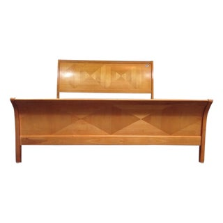 Contemporary King Sleigh Bed Frame