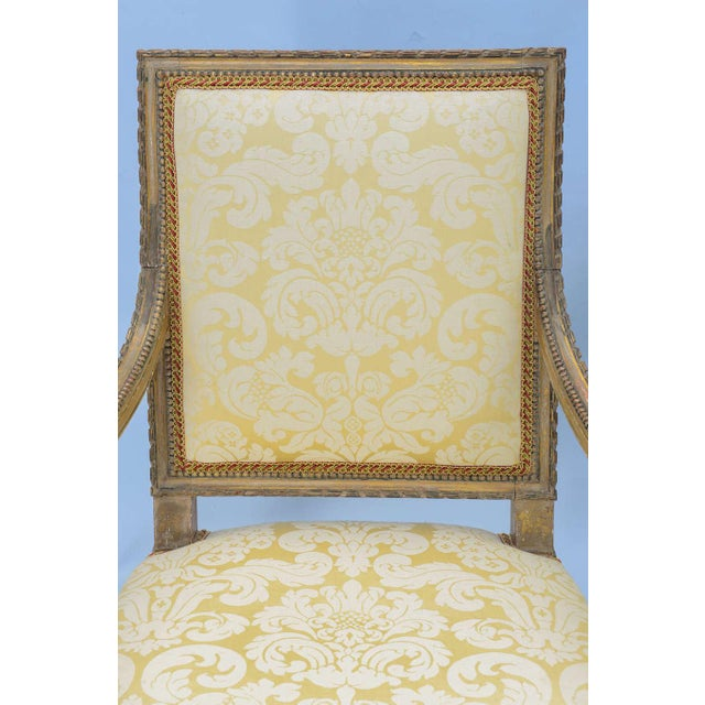 Pair of Early 19th Century Louis XVI Fauteuils - Image 7 of 10