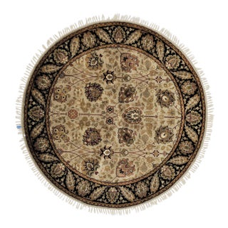 Traditional Wool Round Rug - 5' X 5'