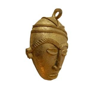 African Baule Gold Weight Passport/Pendant Bronze Mask