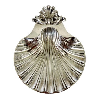 Silverplate Scolloped Shell Dish/Catchall