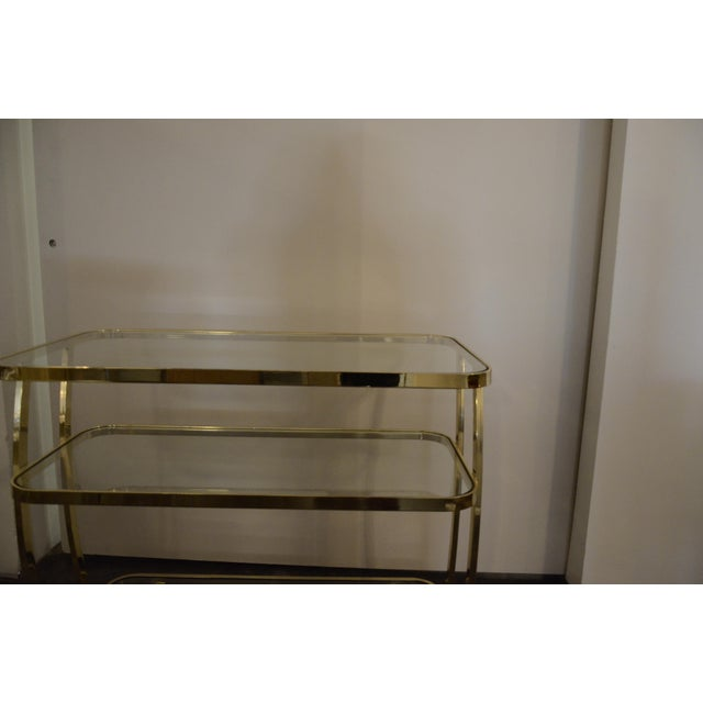 DIA Three-Tier Brass and Glass Bar, Drinks, Tea or Service Cart /Trolley - Image 4 of 11
