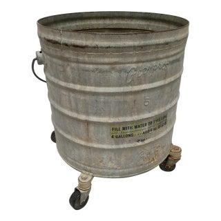 Vintage Industrial Galvanized Metal Rolling Mop Bucket
