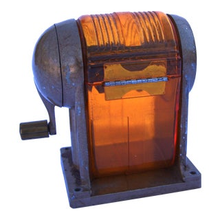 Amber Vintage Pencil Sharpener