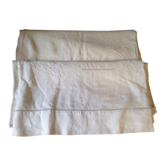 1920's French Bed Linen - Image 1 of 6