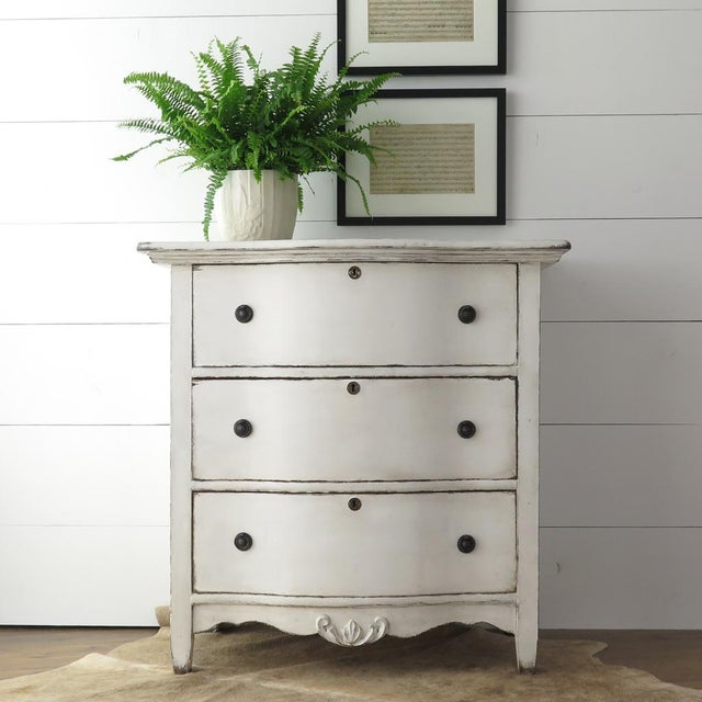 Antique White Painted Chest - Image 3 of 11