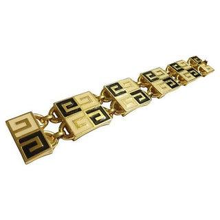 "Givenchy ""GG"" Logo Enamel Bracelet"