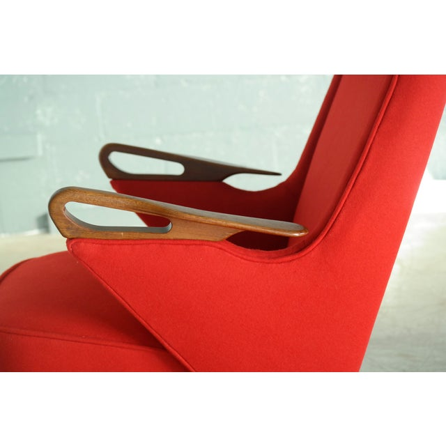Svend Skipper Attributed 1950s Papa Bear Style Lounge Chair - Image 6 of 8
