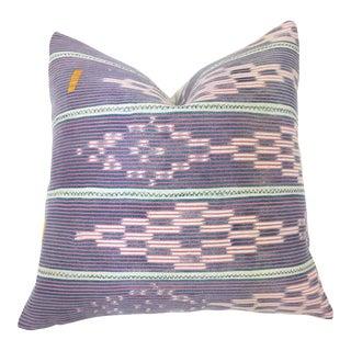 African Baule Cloth Ikat Pillow